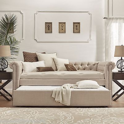 Groovy Twin Daybed Trundle Bed Chaise Sofa Lounge Couch Bunk Guest Andrewgaddart Wooden Chair Designs For Living Room Andrewgaddartcom