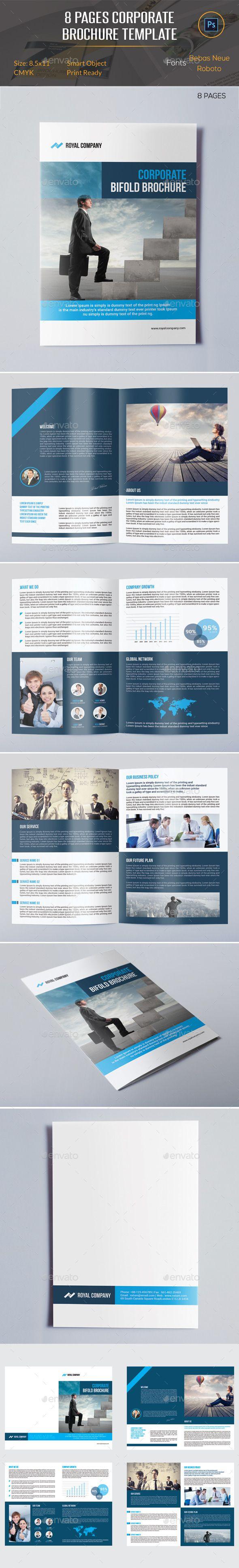 Pages Brochure Template Brochure Template Brochures And Template - 8 page brochure template