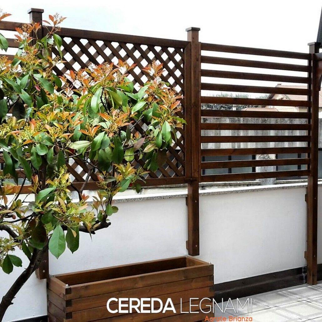 Vasi fioriere e grigliati in legno brianza como monza for Grate in legno per balconi