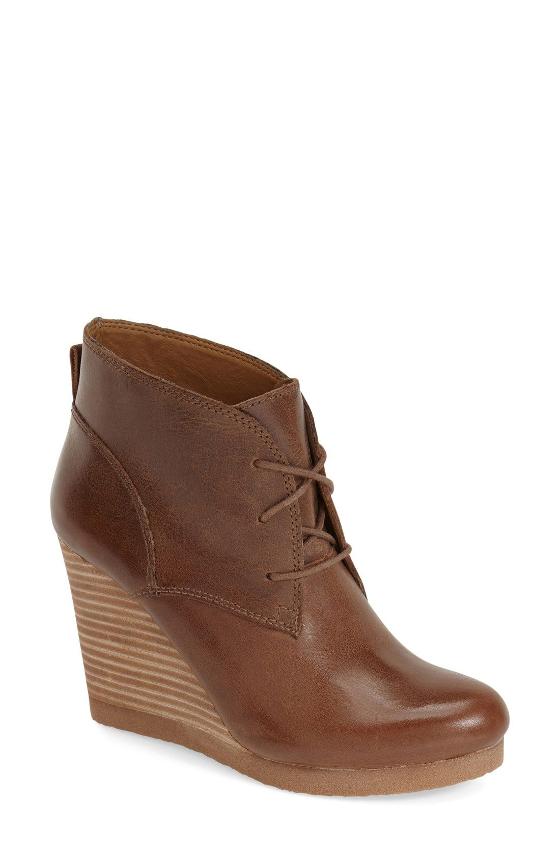 71aa59e62b6 Lucky Brand Women s Taheeti Lace-Up Wedge Booties 75% off   Macy s ...