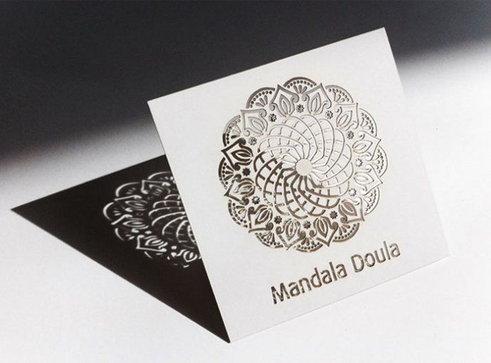 Business card for Mandala Doula designed by http://www.audreybotha.com
