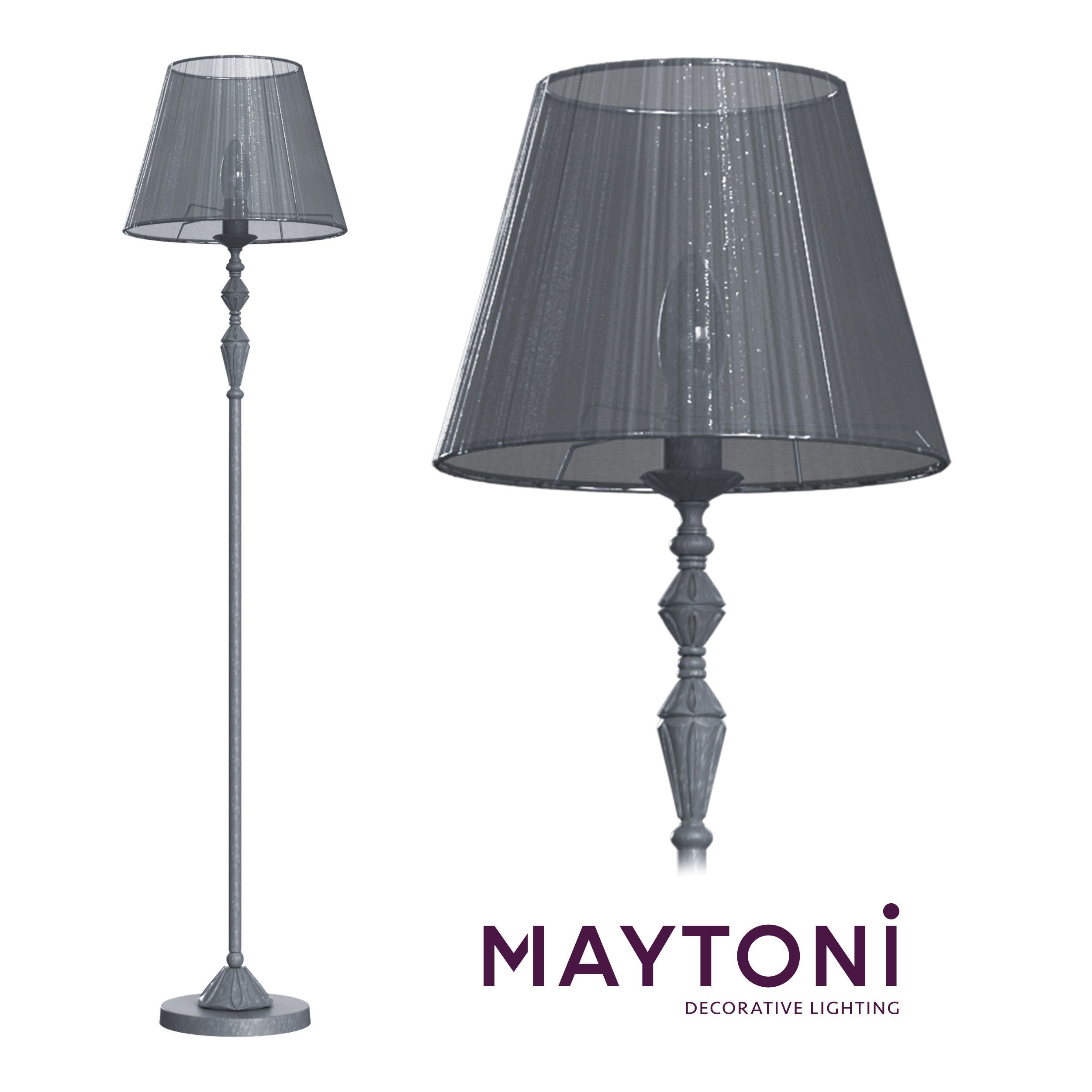 Floor Lamp Monsoon Arm154 Fl 01 S Maytoni Classic 3d Model In 2020 Floor Lamps Living Room Interior Floor Lamp