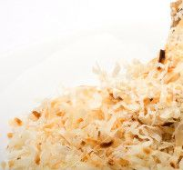 Craving something sweet? These toasted coconut shavings will satisfy that sweet tooth. Click for recipe!