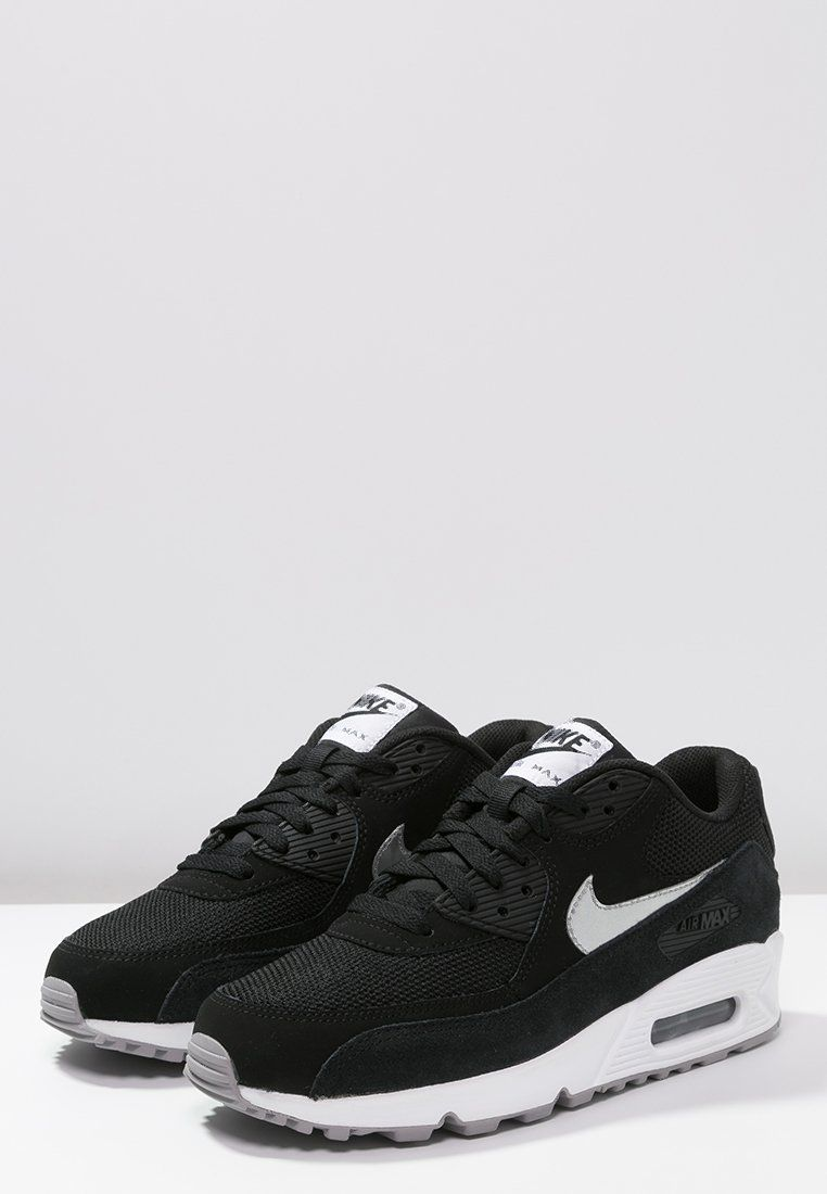 size 40 c698c 810d4 Nike   AIR MAX 90 ESSENTIAL - Baskets basses - black metallic silver white flat  silver noir 140 € Zalando