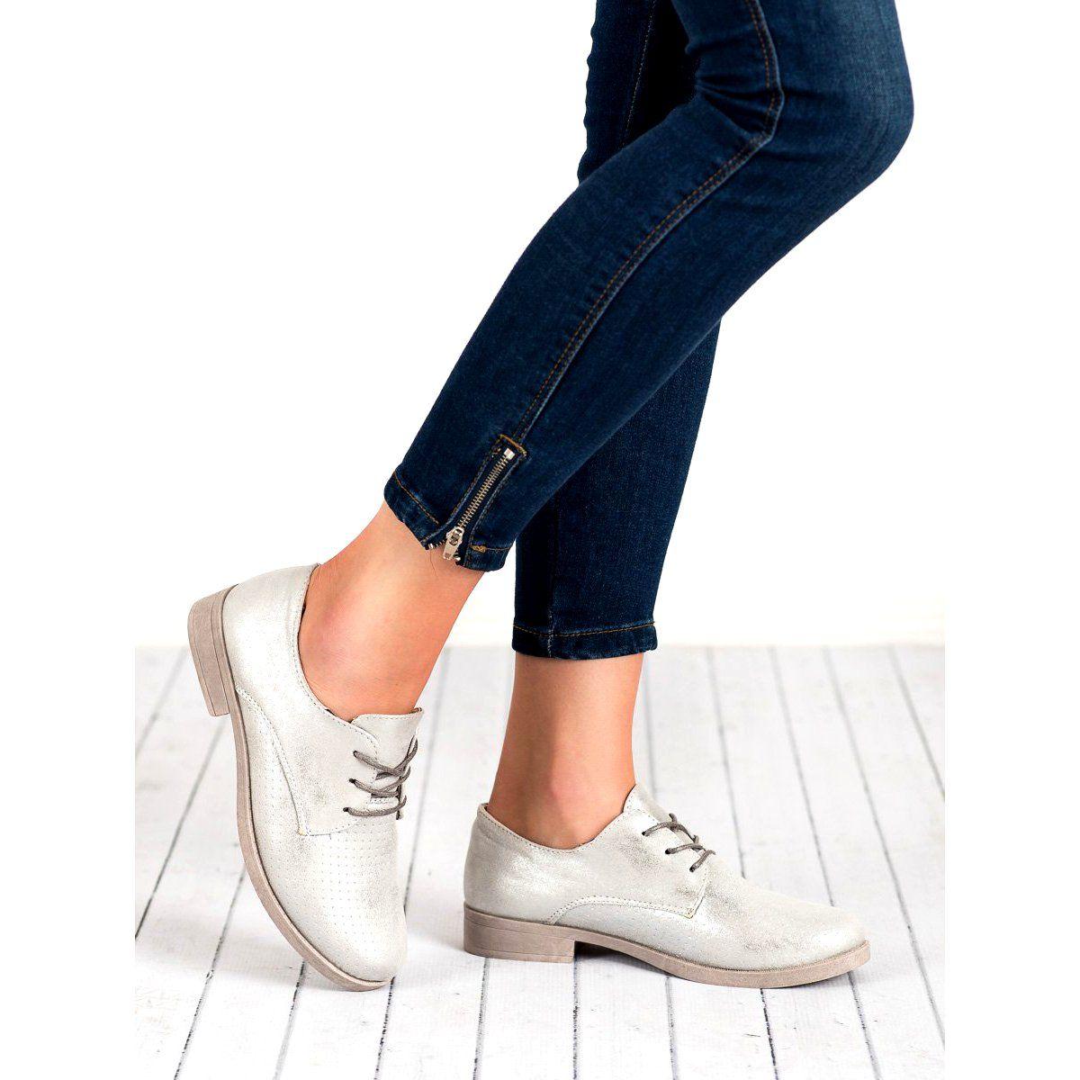 Bless Eleganckie Polbuty Damskie Szare Sneakers Shoes Tretorn Sneaker