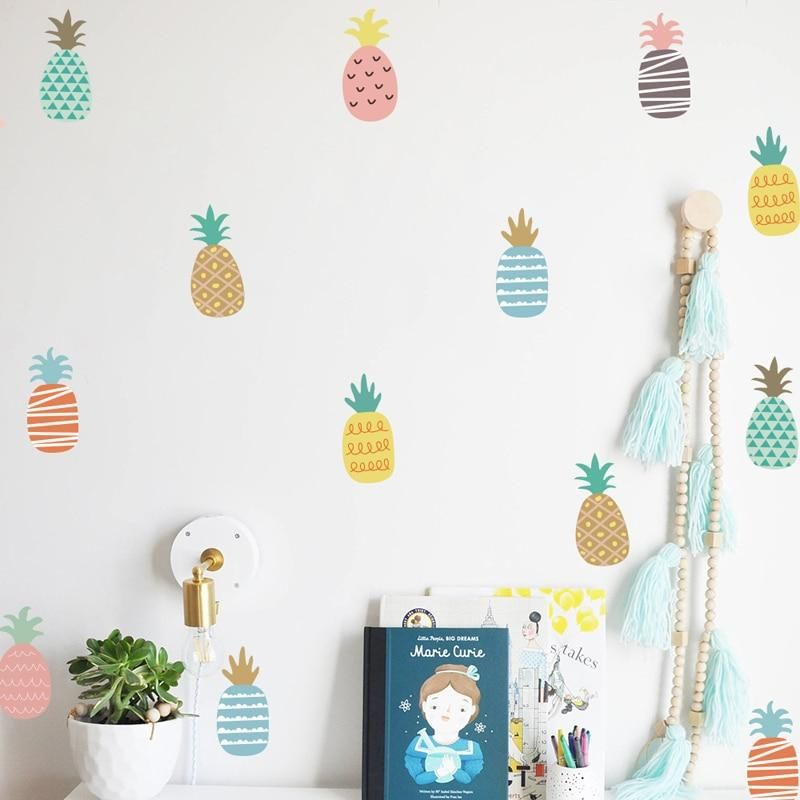 Cute Colorful Pineapple Wall Decals Rainbow Wall Stickers