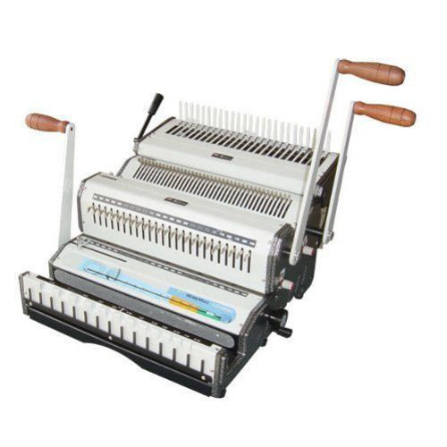 The Wiremac Combo Is Another Great System From Akiles The Wiremac Combo Takes The Wiremac Design And Ad Binding Machines Wire Binding Binding Covers