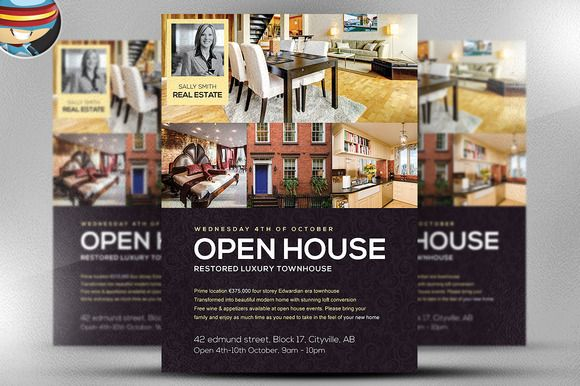 Open House Flyer Template By Flyerheroes On Creative Market