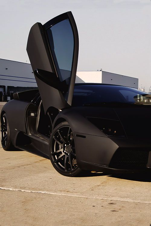 Lamborghini Murcielago 跑车 Cars Lamborghini Matte Black Cars