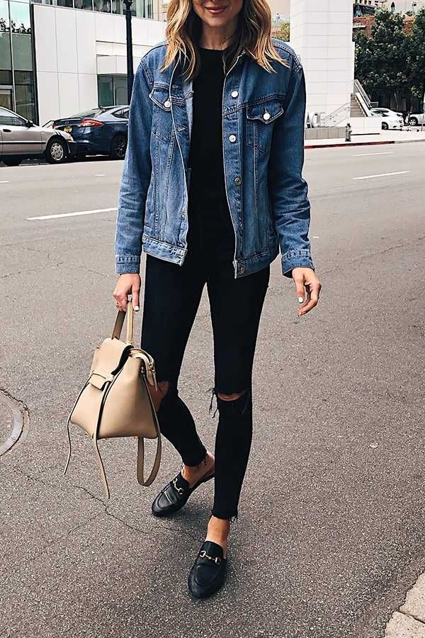 Oversized Light Washed Ripped Denim Jacket Womens #womensfashion