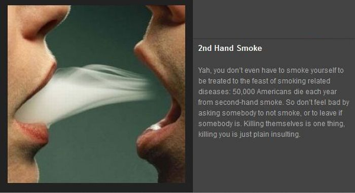 the dangers of smoking and second hand smoke About second hand smoke the original surgeon general's report, followed by this first hazard warning on cigarette packages, the subsequent danger warning on cigarette packages, the.