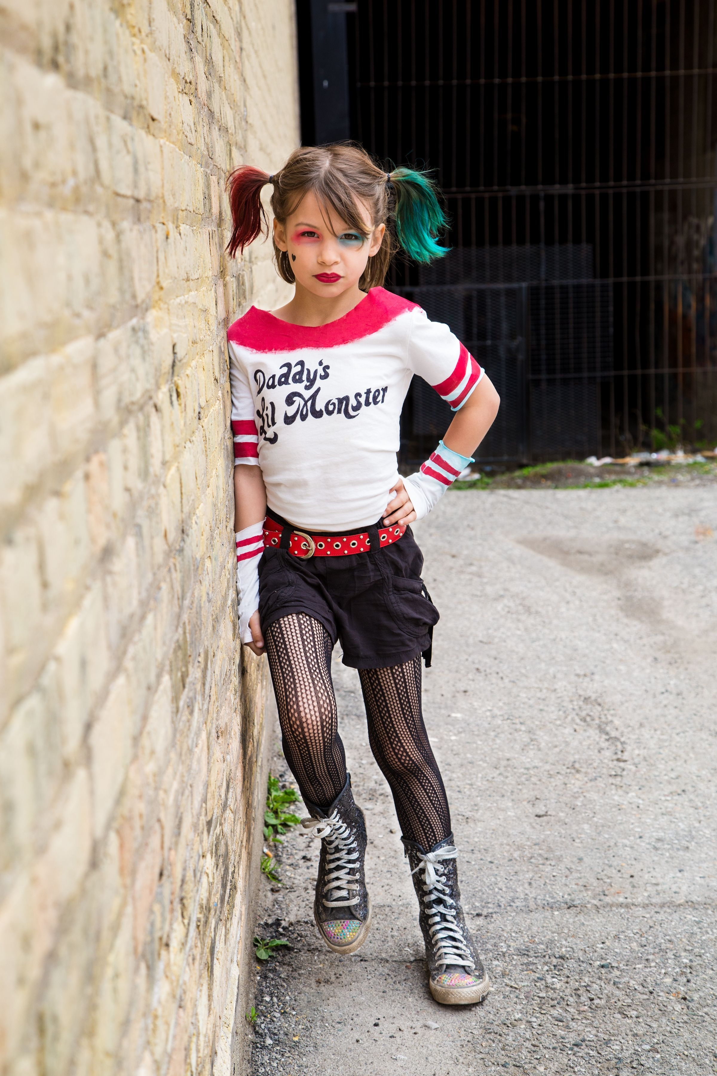 Harley Quinn Suicide Squad inspired little girl cosplay. Photo by ...