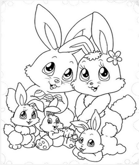 Desenhos Para Colorir Familia Para Colorir Coelho Desenhos De