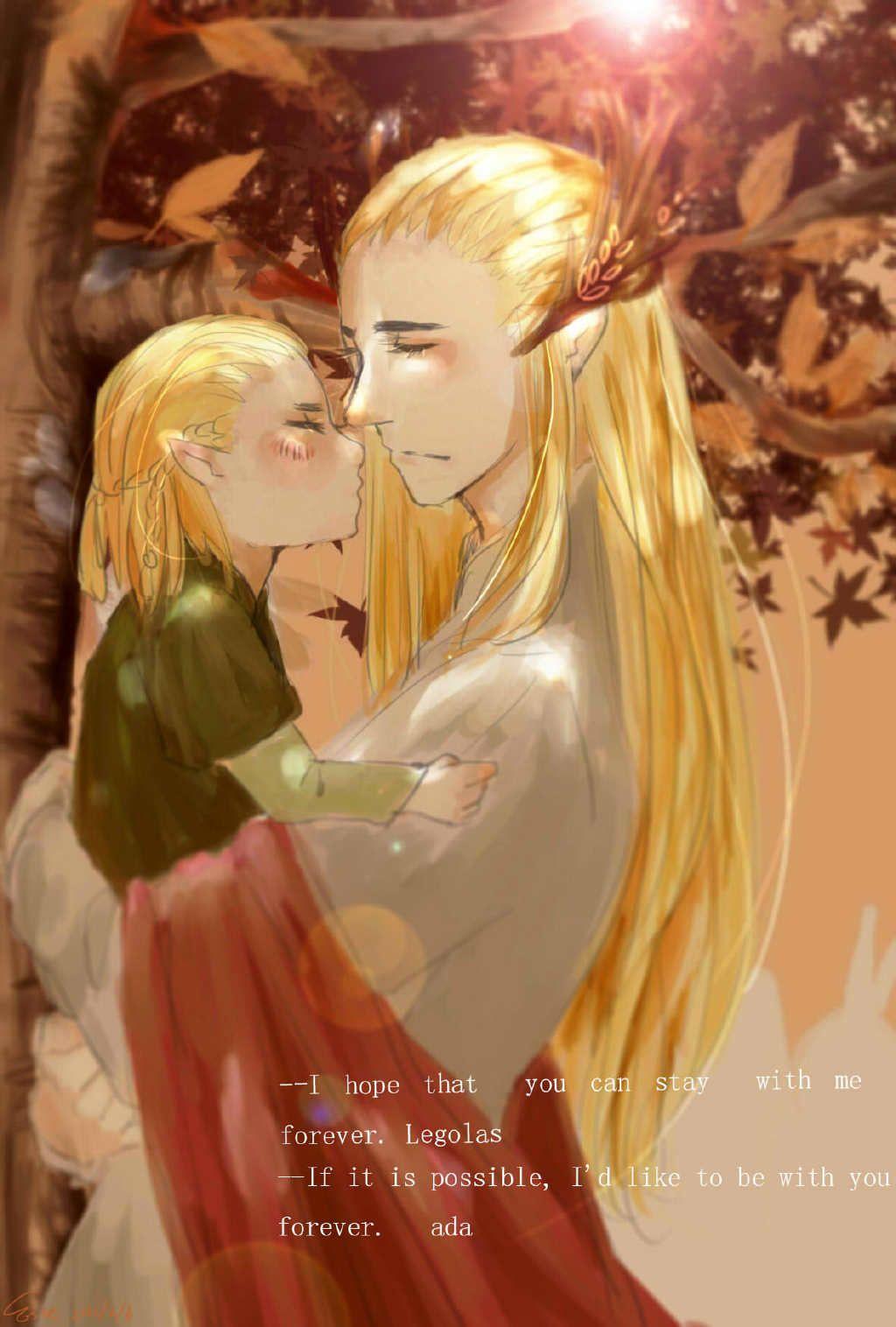 Thranduil and little Legolas by 淳_Este用一年备战高考 | Средиземье