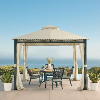 How To Create Shade Stylishly In Your Backyard Megan Morris Backyard Shade Backyard Gazebo