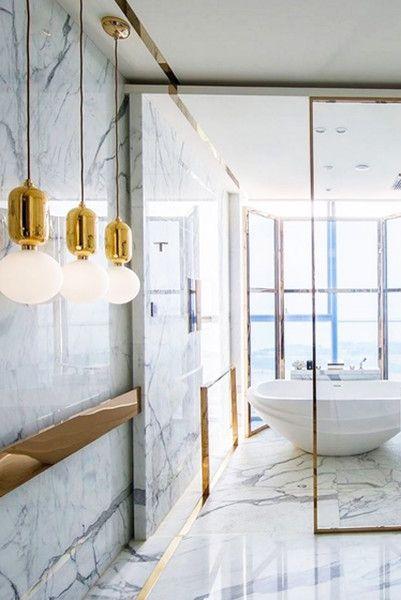 Marvelous Marble In 2019 Brass Is Boss Bathroom Design
