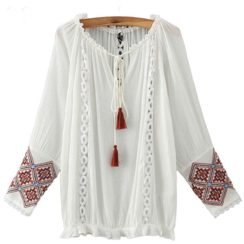 Biala Koszula Bluzka Slowianska Oldschool Cudo S L 6445602626 Oficjalne Archiwum Allegro Blouses For Women Womens Long Sleeve Shirts Cheap Womens Tops