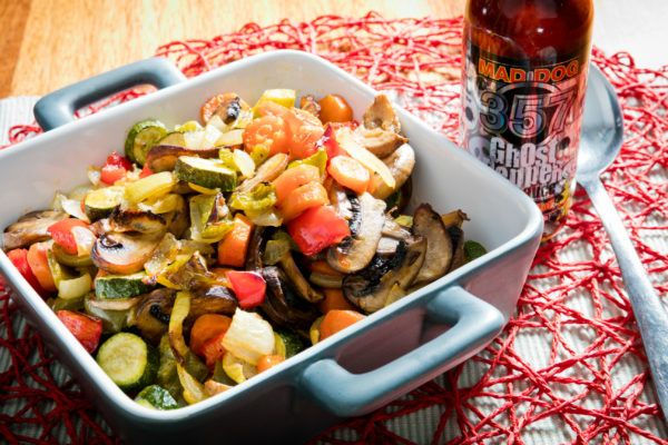 Mad Dog Roasted Ghost Veggies ~ as soon as you add a few drops of Mad Dog, you'll certainly feel full and happy.