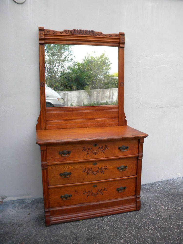 Victorian Eastlake Dresser With Mirror 6142 In 2019
