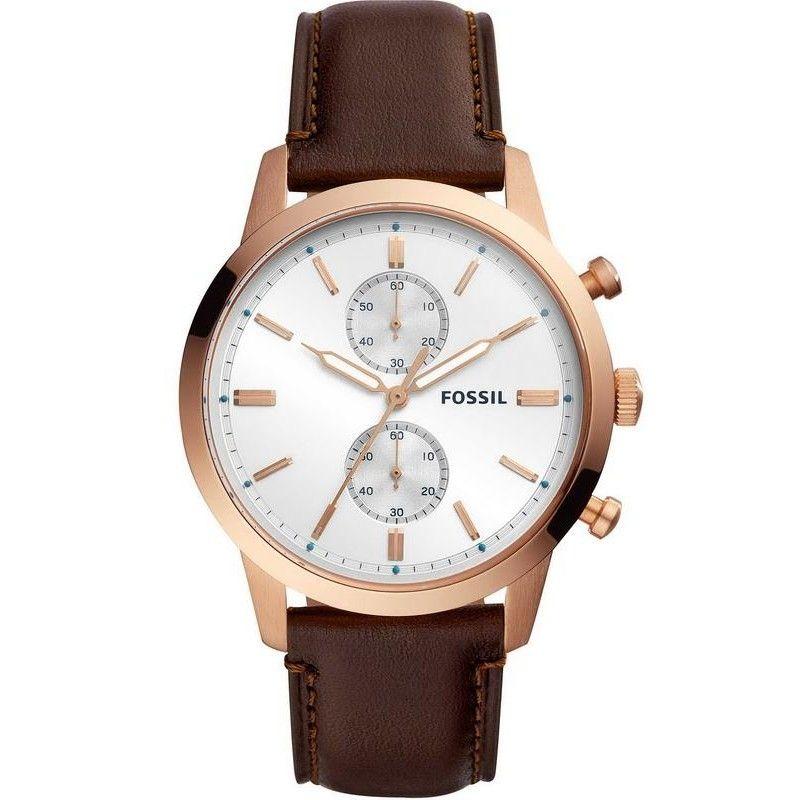 Fossil Herrenuhr 44mm Townsman Fs5468 Quarz Chronograph Zum Verkauf Online Auf Modischenschmuck De Zum Beste Uhren Herren Fossil Uhren Lederuhren