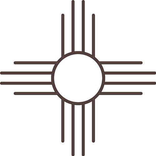 The Zia Sun Symbol And Spiral Zia Sun Kokopelli Art Pinterest