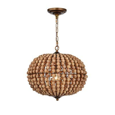 Photo of Highland Dunes Alvis 3-Light Globe Chandelier | Wayfair