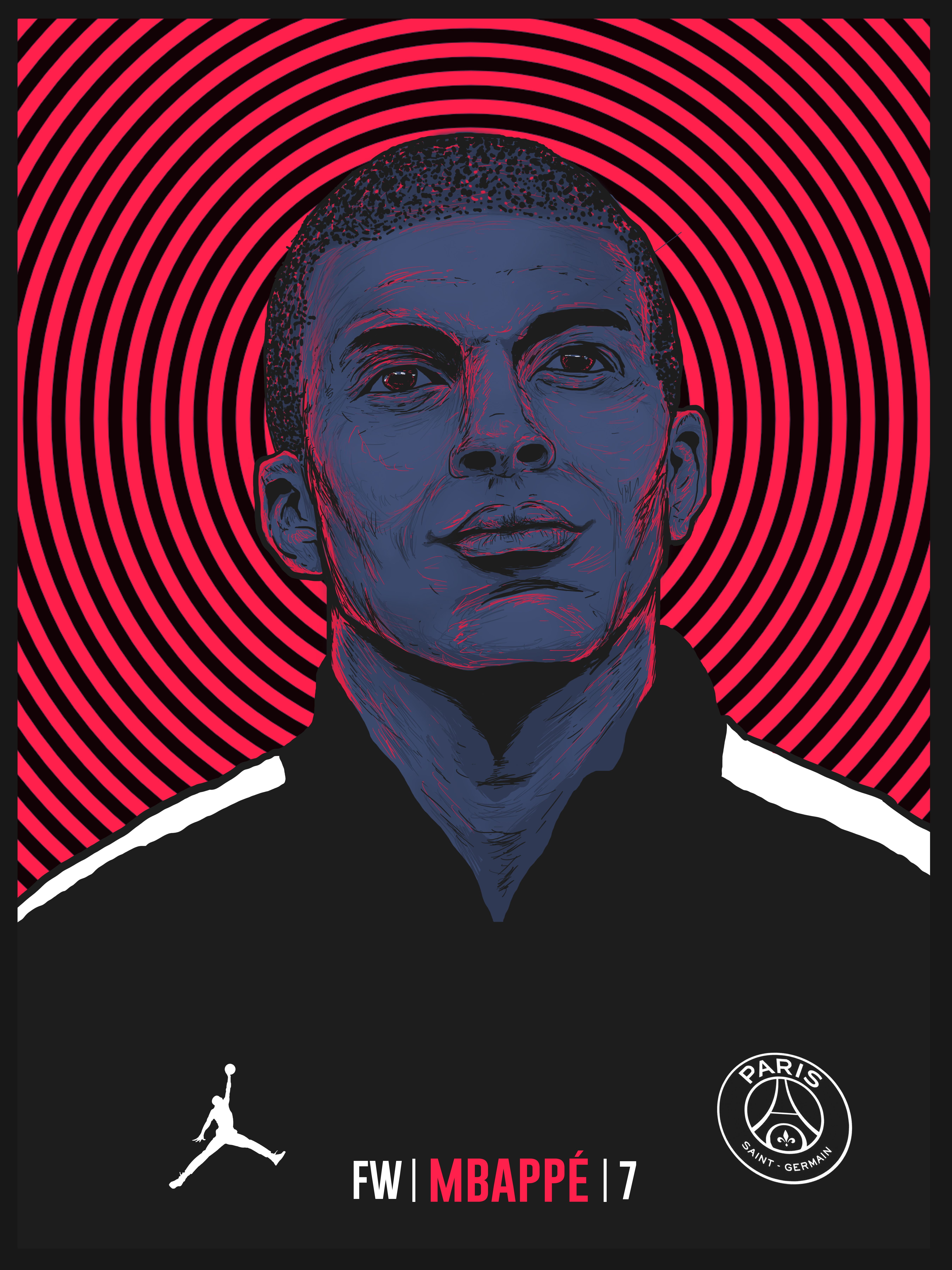 Mbappe Fan Art By Nosuycarlo Football Art Illustration Paris Saint Germain