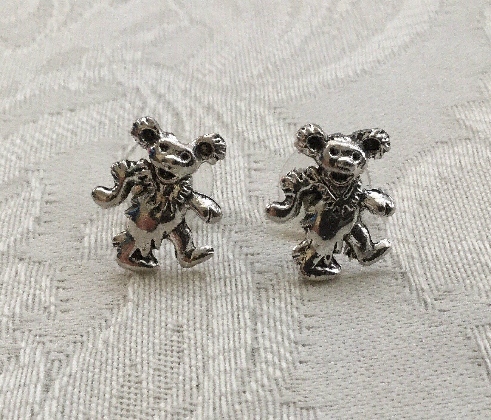 brown bear animal earrings honeybear bear errings animal jewelry mountain bear gift for her grizzly bear bear jewelry