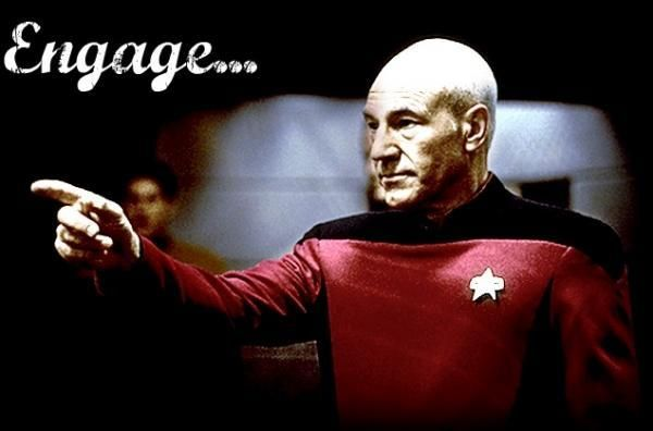 Ahead Warp Factor 9...Engage! I admit...I love Star Trek.....There ...