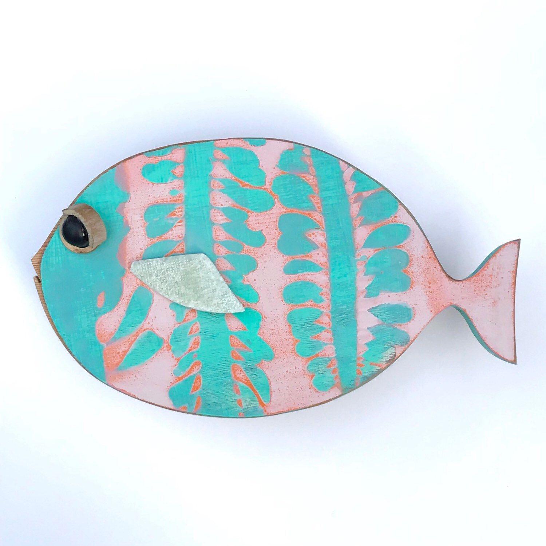 Large Wooden Fish Wall Art Tropical Fish Wall Hanging Fish Wall Art Fish Art Wooden Fish