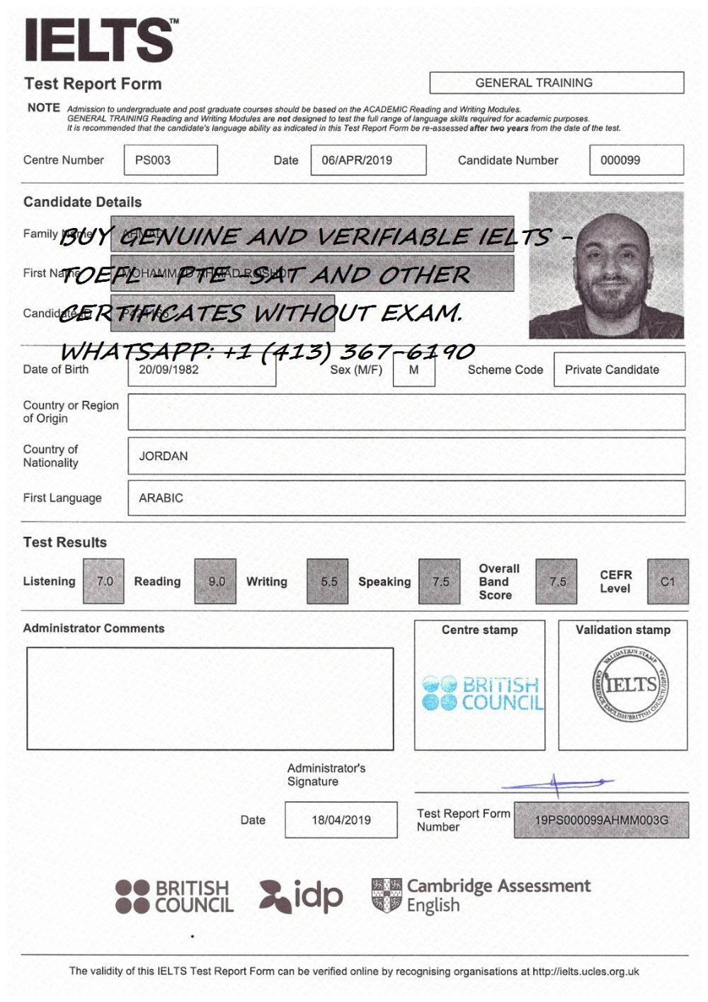 Buy Ielts Certificate Without Exam British Council Idp Joadd Local Search Ielts Exam British Council [ 1415 x 1000 Pixel ]