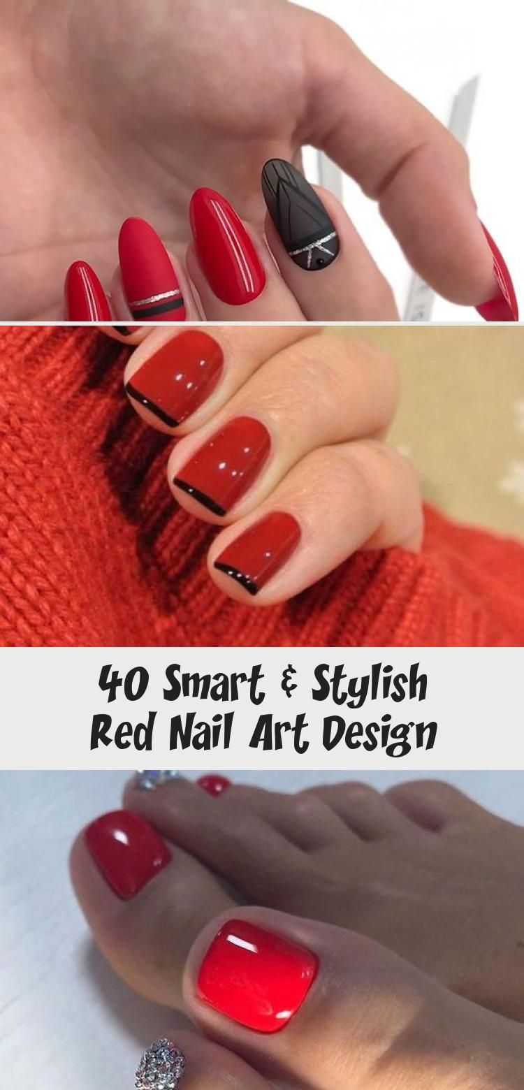 Photo of 40 Smart & Stylish Red Nail Art Design – Nail Art