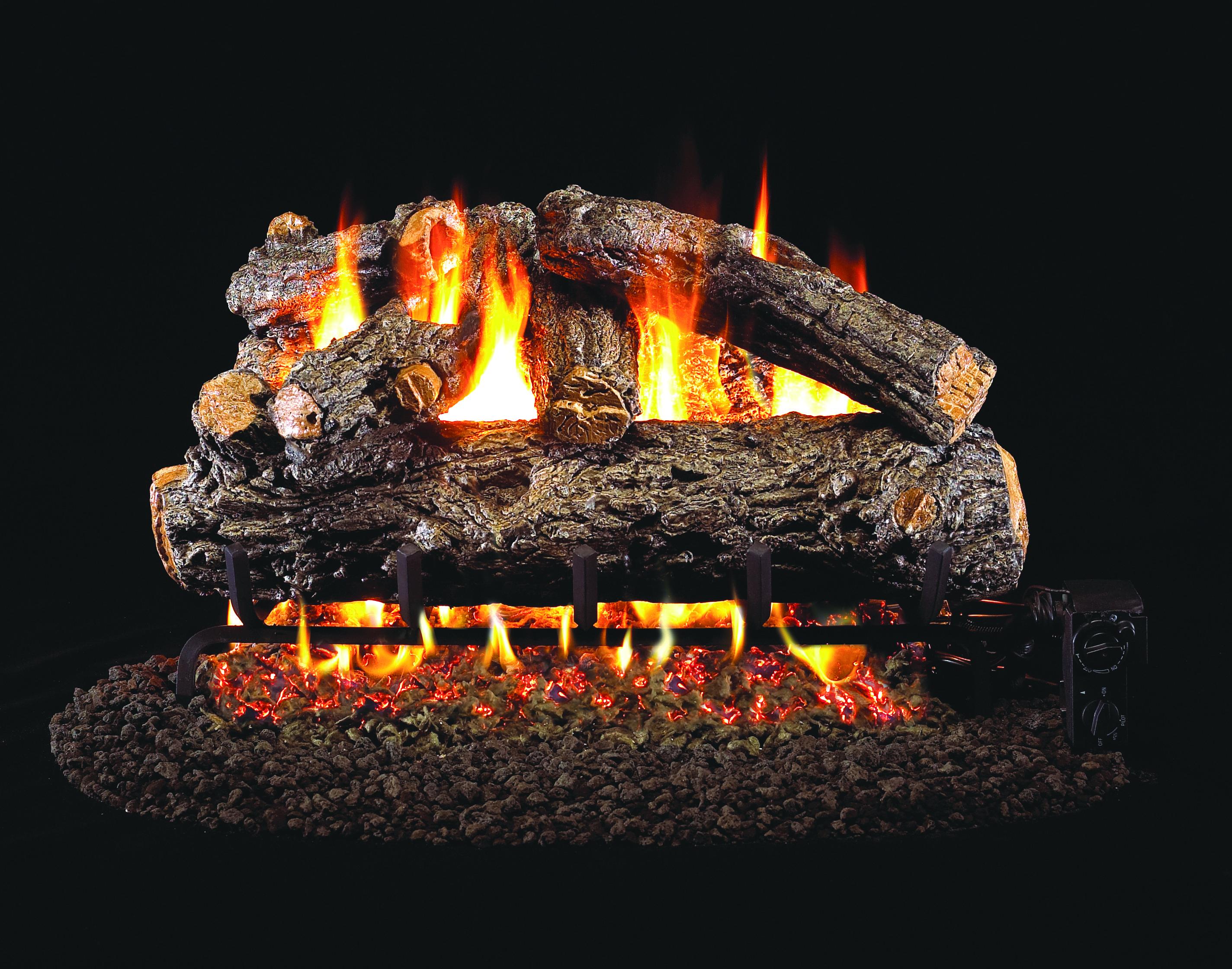 real fyre premium gas logs rustic oak designer www rhpeterson com