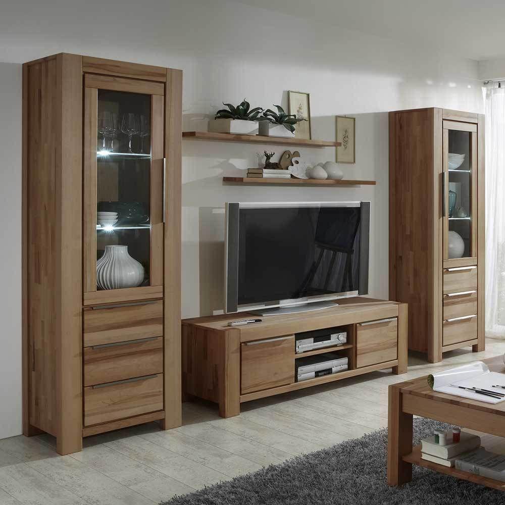 echtholz wohnzimmer great echtholz buche billig wohnwand echtholz buche wohnzimmer wohnwand. Black Bedroom Furniture Sets. Home Design Ideas