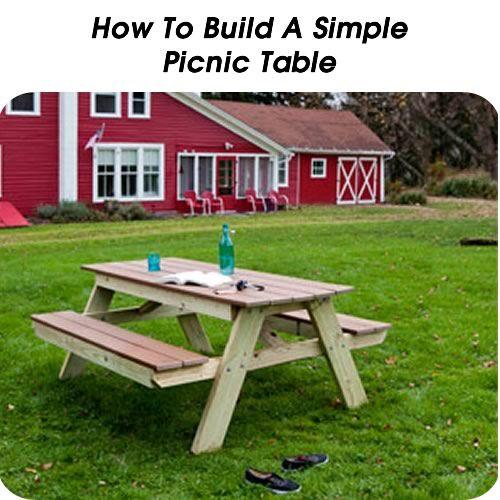 How To Build A Simple Picnic Table Httpwwwhometipsworldcom - Popular mechanics picnic table