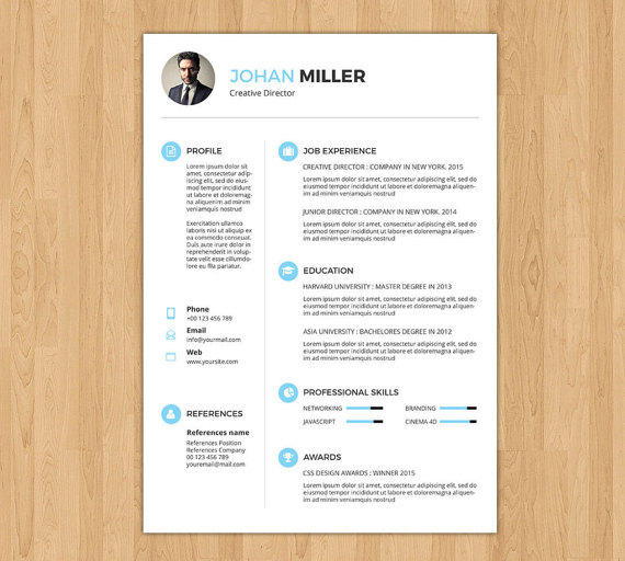 Sale Professional and Creative Resume Template Word by sisresume - creative resume templates for word