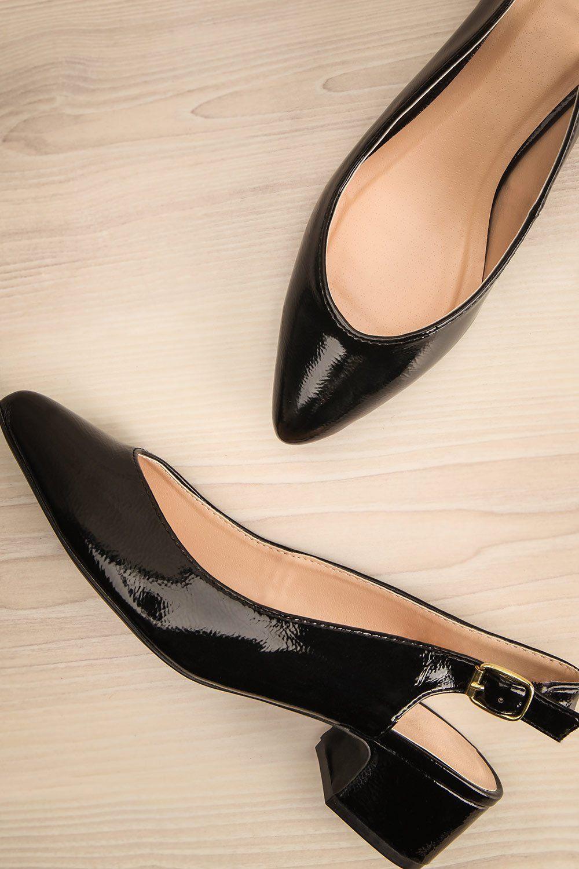 Fariel Black Lapetitegarconne Shoes Heels Blockheels Pointedtoe Chic Black Low Heel Shoes Heels Perfect Shoes