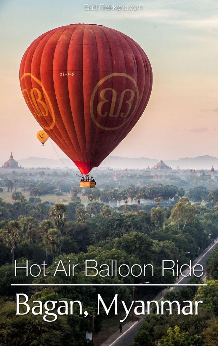 A Hot Air Balloon Ride Over Bagan, Myanmar Air balloon
