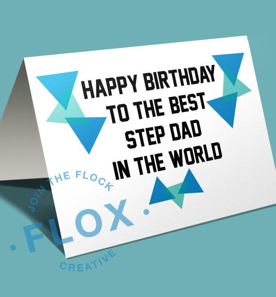 Happy Birthday day to the best step dad in the world Niche – Step Dad Birthday Cards