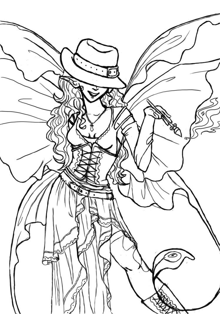 Pin By Mariette Wings On Coloriage Steampunk Steampunk Coloring Steampunk Animals Angel Coloring Pages