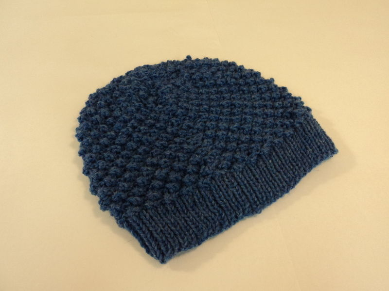 34.97$  Watch now - http://vixbd.justgood.pw/vig/item.php?t=3e1ebe13949 - Handcrafted Slouchy Hat Ocean Blue Textured 100% Merino Wool Female Adult