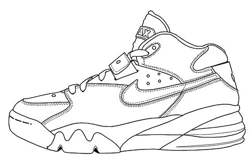 Gallery For Nike Shoe Outline Template Online Images Sketchbook Ideas Outlines