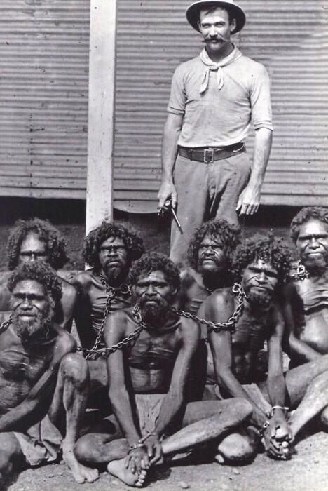 Images of slavery and colonialism in Australia. #sociology