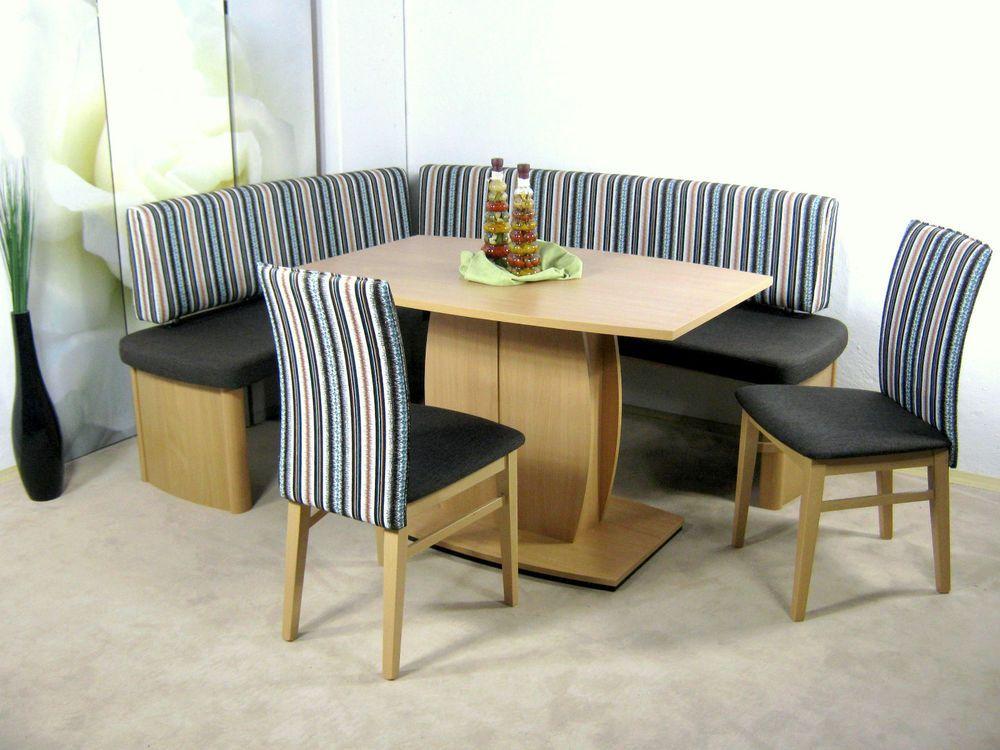 Eckbank Stühle Tisch Esstisch Sitzgruppe Sitzbank Essgruppe