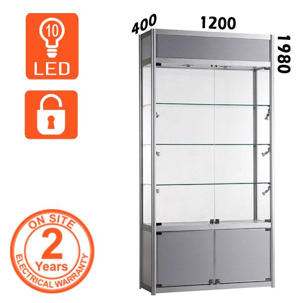 This Silver School Trophy Cabinet Will Show Off Your Awards Beautifully Comes With Light
