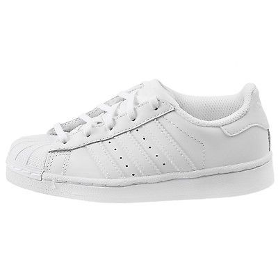 Adidas Superstar Foundation Little Kids BA8380 White Athletic Shoes Youth  Size 3 c14a23d485c2f
