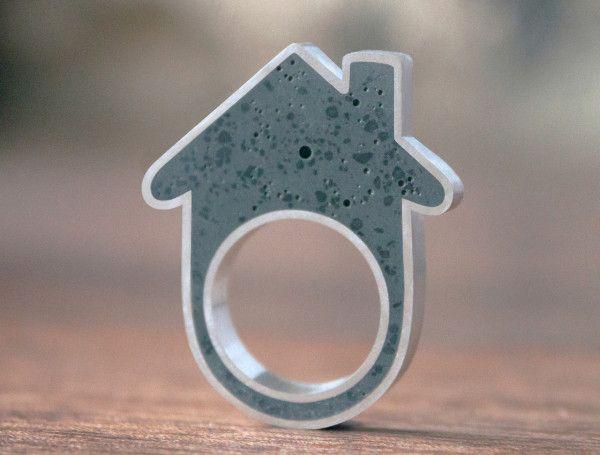 Concrete House Ring by Linda Bennett Photo
