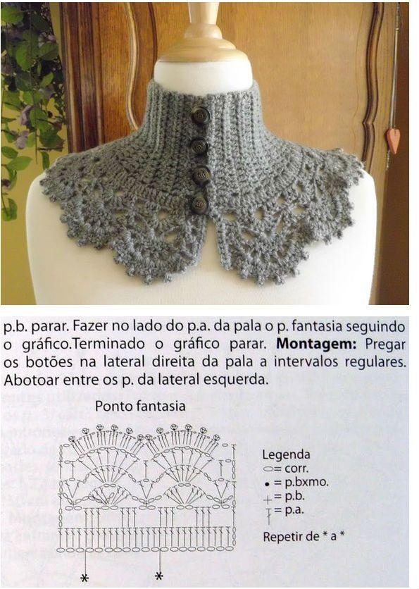 Crochet Neckwarmer Cape Capelet Patterns With Diagram Crochet