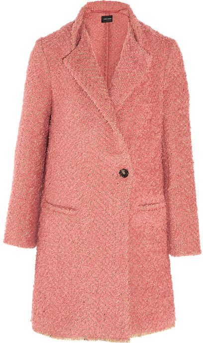 Isabel Marant Gloria Herringbone Boucle Coat Coat Mode Isabel Marant