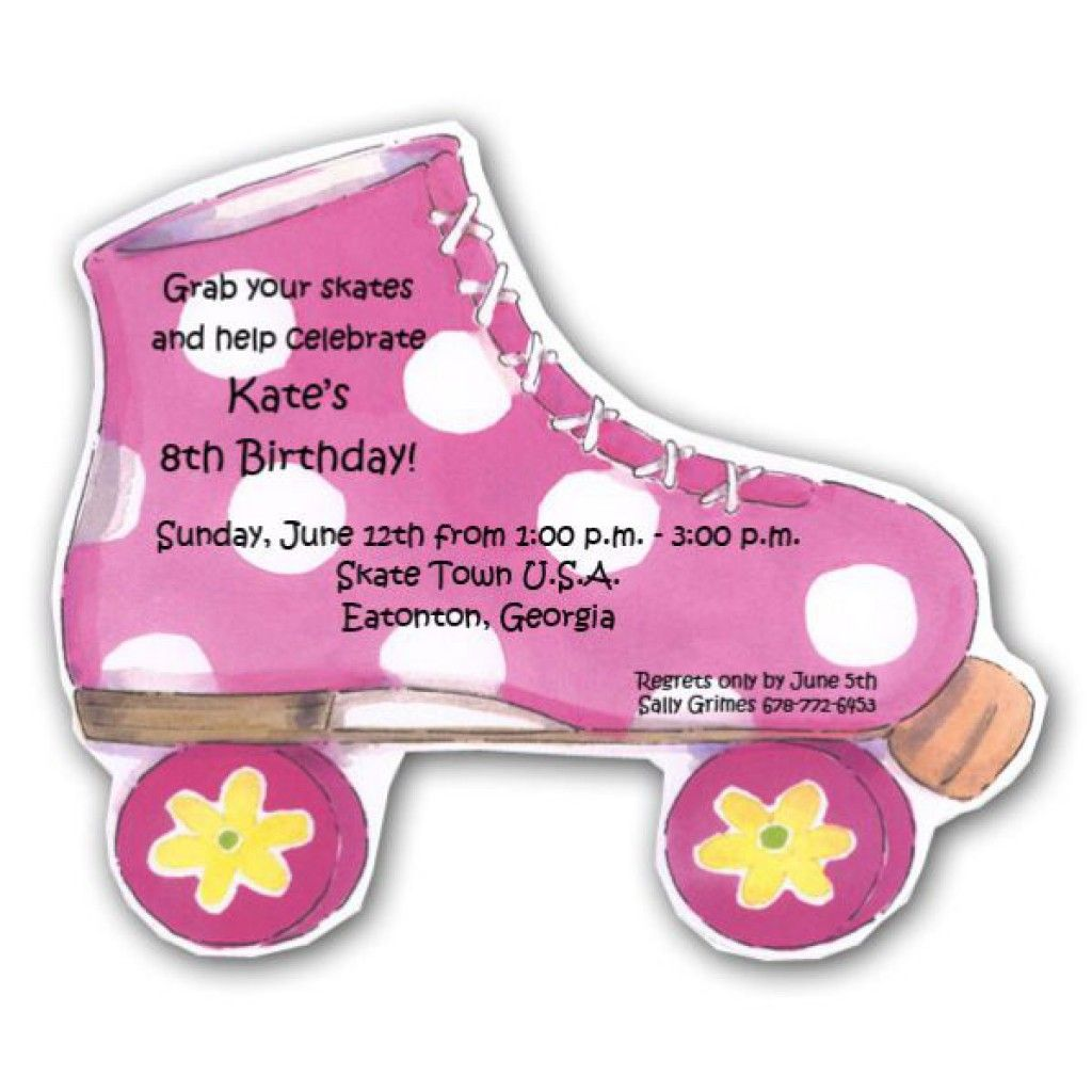 image about Free Printable Roller Skate Party Invitations known as 7 Perfect Pictures Of Totally free Printable Roller Skate Template